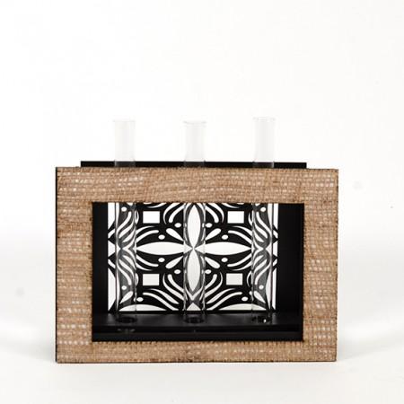 Дървена ажурна кашпа-ваза: Рамка - празна 2