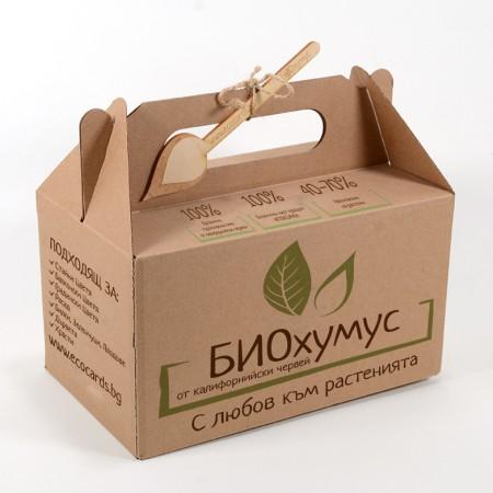 Био Хумус от калифорнийски червен червей - кутия