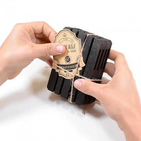 Дизайнерски подложки за чаши: Евро Палет (черни)