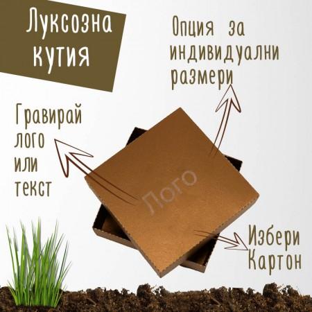Луксозна картонена кутия - злато