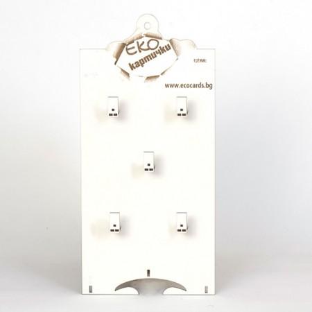 Стелаж за картички: Модулен за стена