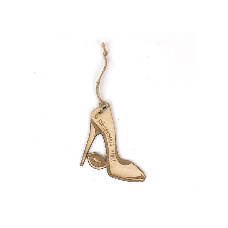 Еко картичка за дами: Обувка с токче