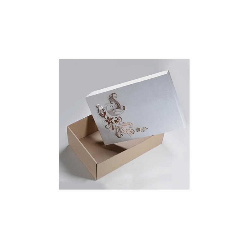 Луксозна кутия от велпапе с дизайн на цветя
