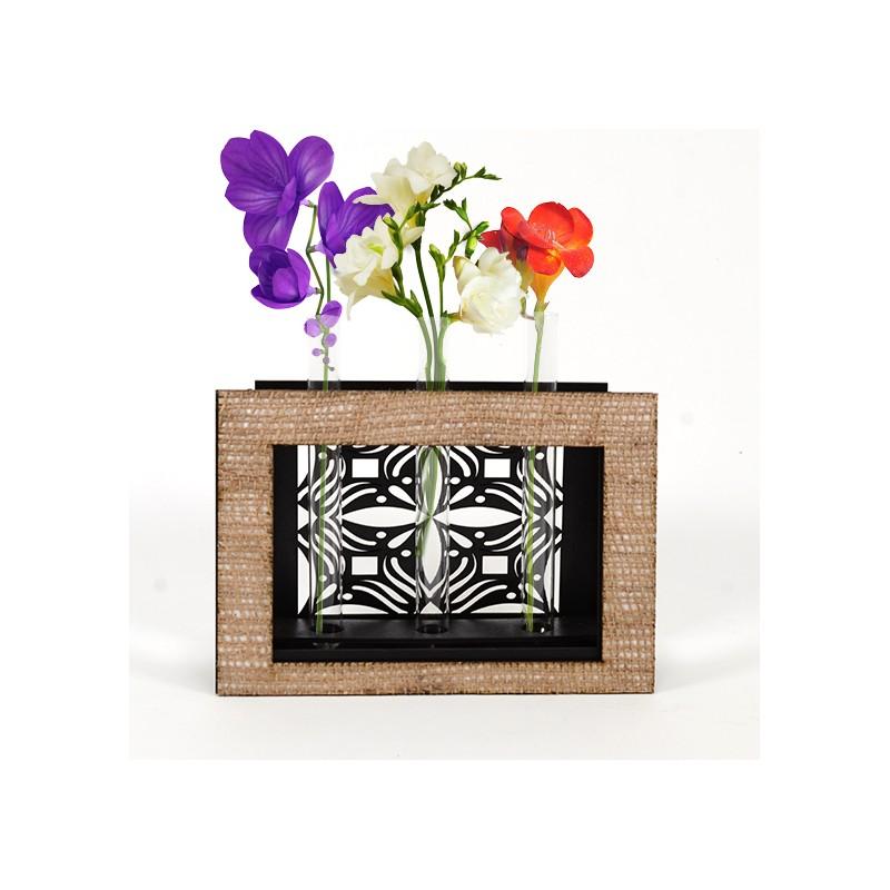 Дървена ажурна кашпа-ваза: Рамка