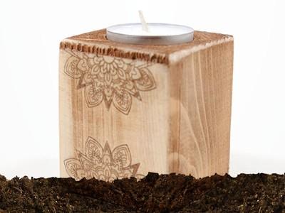 Свещници от дърво - EcoCards.bg