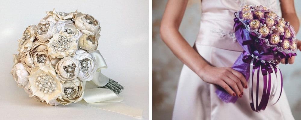 Сватбен букет от плат